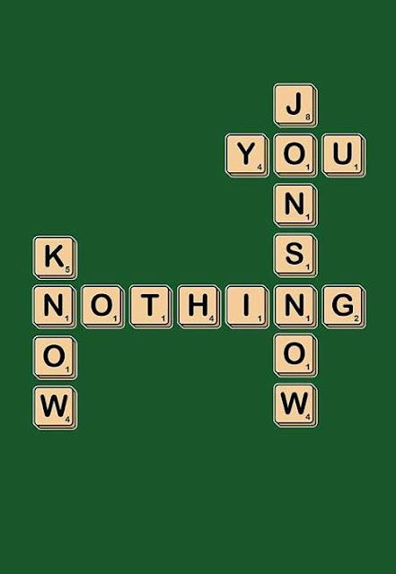 no sabes nada jon nieve Scrabble - Juego de Tronos en los siete reinos