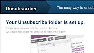 yahoomail unsubscriber folder image