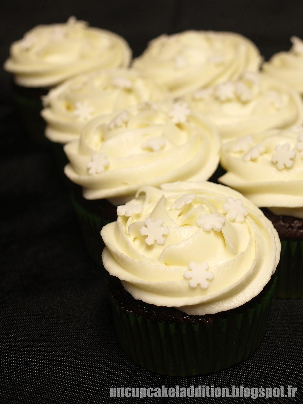ganache cupcake chocolat blanc