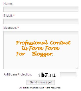 How To Add Professional Contact Us Form Widget In Blogger