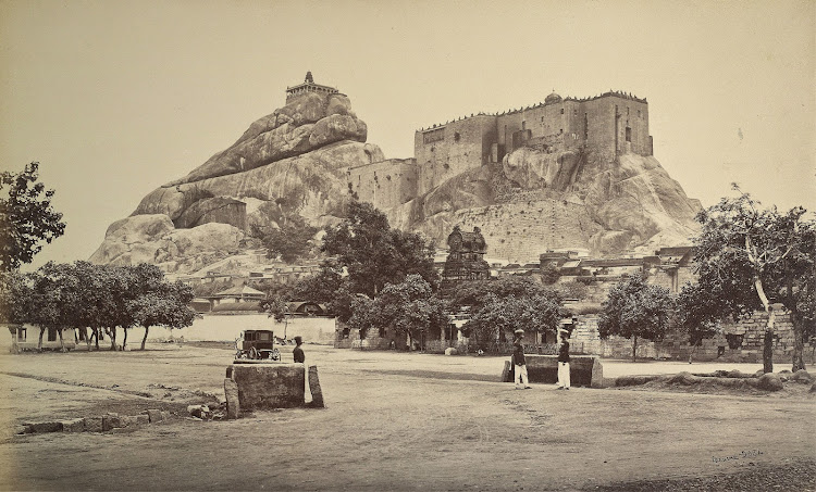 Rock Fort Temple Complex in Tiruchirapalli, Tamil Nadu 1869