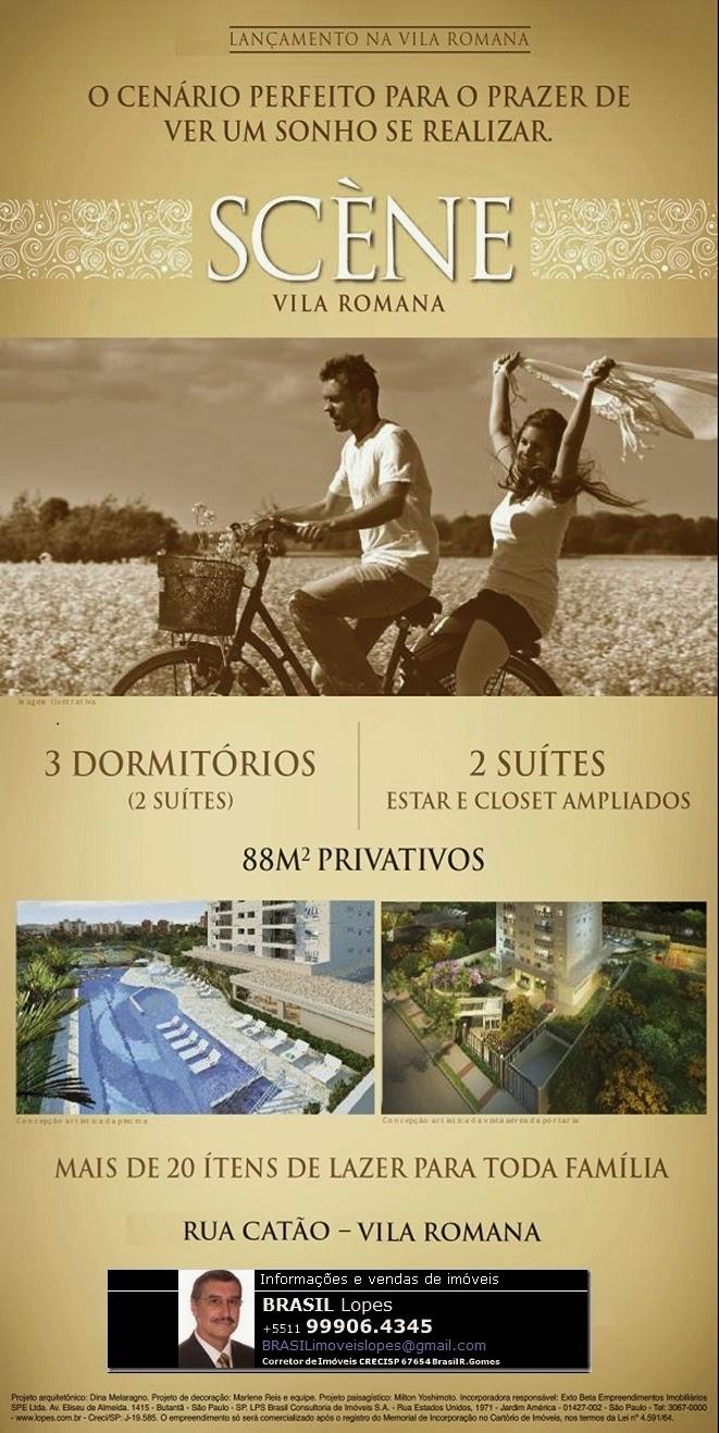 SCÈNE Vila Romana - 3 dorms.(1 suíte) 2 vagas 88m²