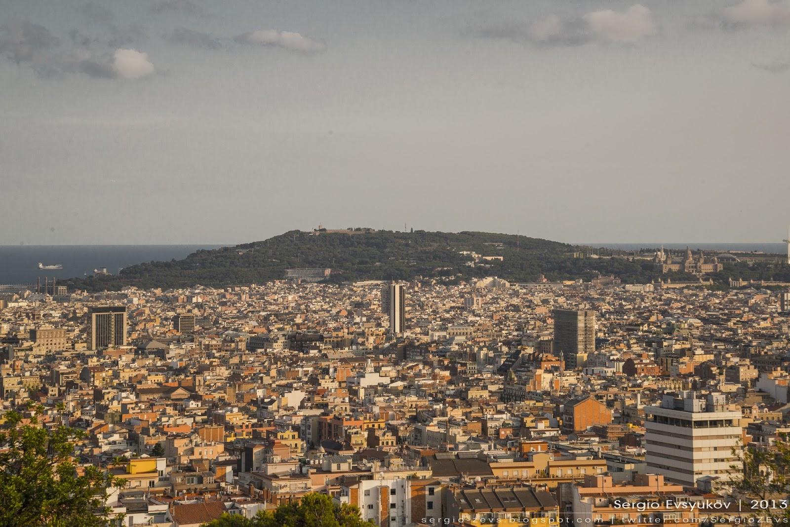 Вид на Барселону из Parc Güell