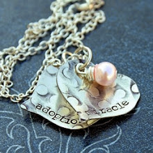 Stacy Richards designed this beautiful necklace to celebrate the adoption of our fourth china Baby