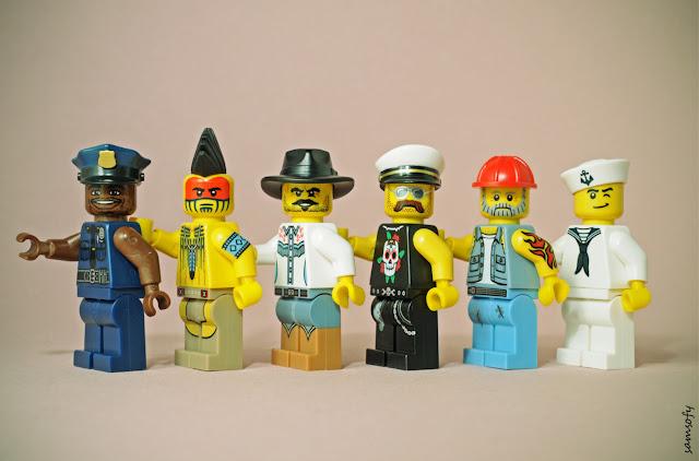 Samsofy, Legographie, Legografía, Village People