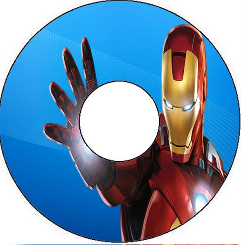 Etiquetas de Iron Man para CD's.