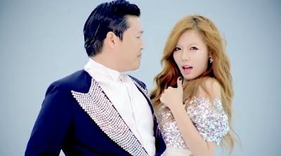 Psy feat. Hyuna - Gangnam Style 강남스타일 Lirik dan Video