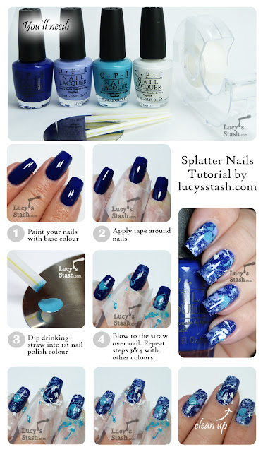 Lucy's Stash - OPI Splatter Manicure Tutorial