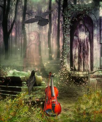 La última canción - Ilustración 3D - Imágenes góticas