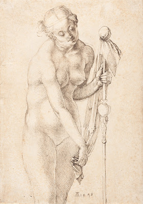 Albrecht Durer Female Nude with a Staff