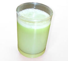 Lauki juice with mint and ginger flavor