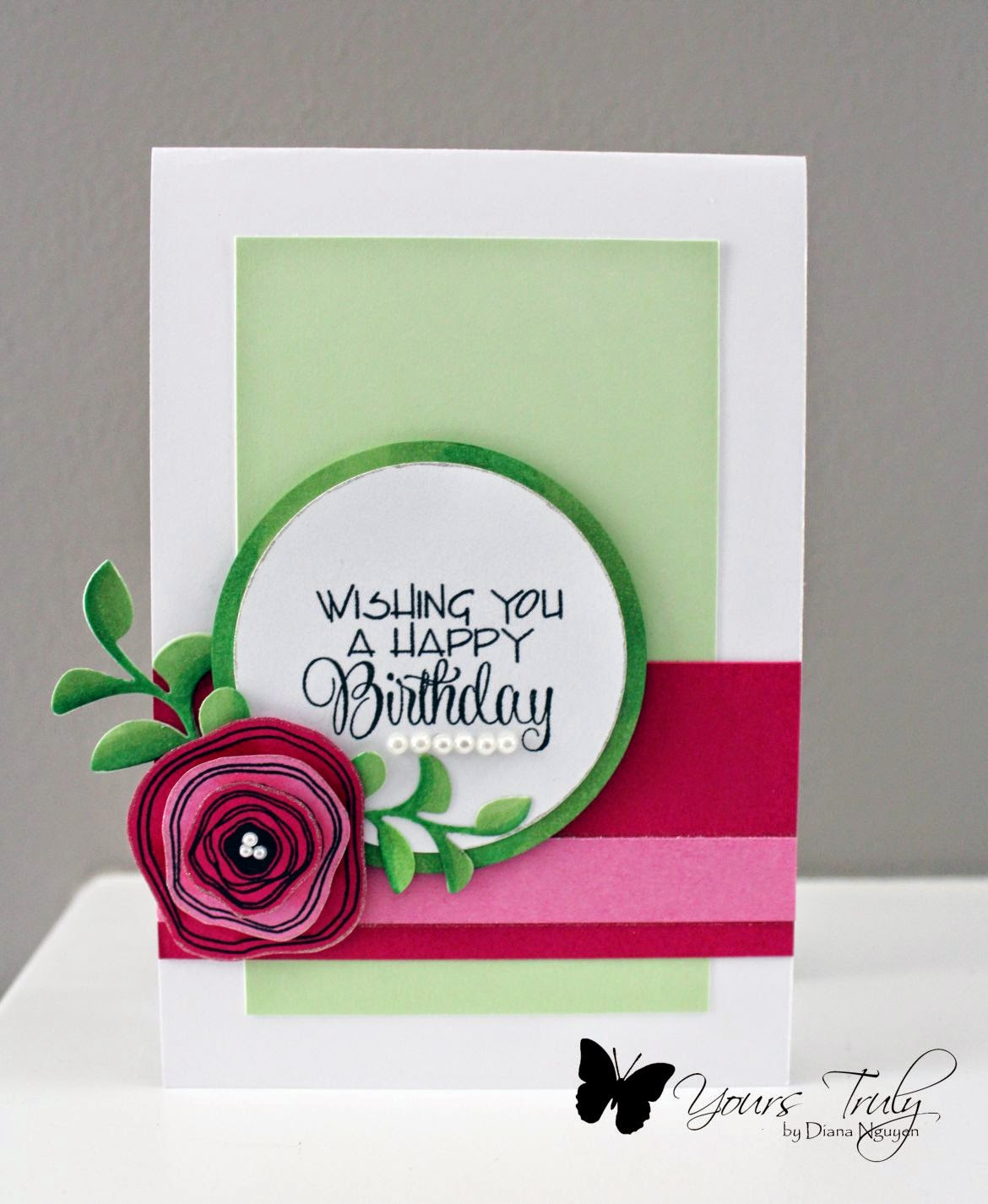 Diana Nguyen, Verve, poppy birthday, card