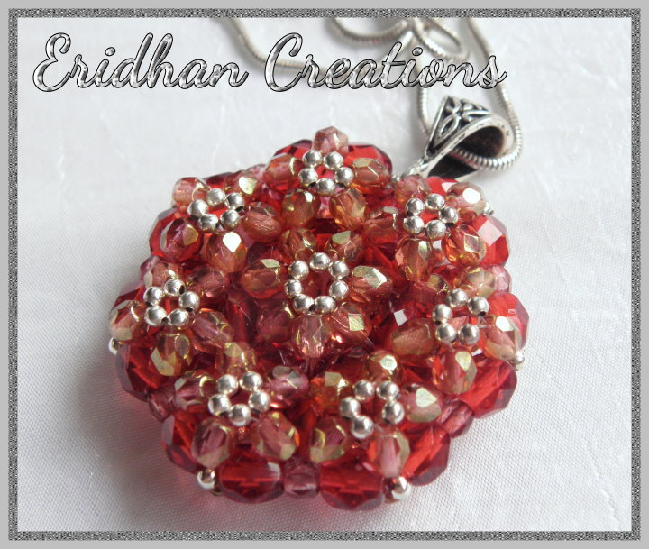 Eridhan creations beading tutorials a simple beaded pendant beaded pendant mozeypictures Choice Image