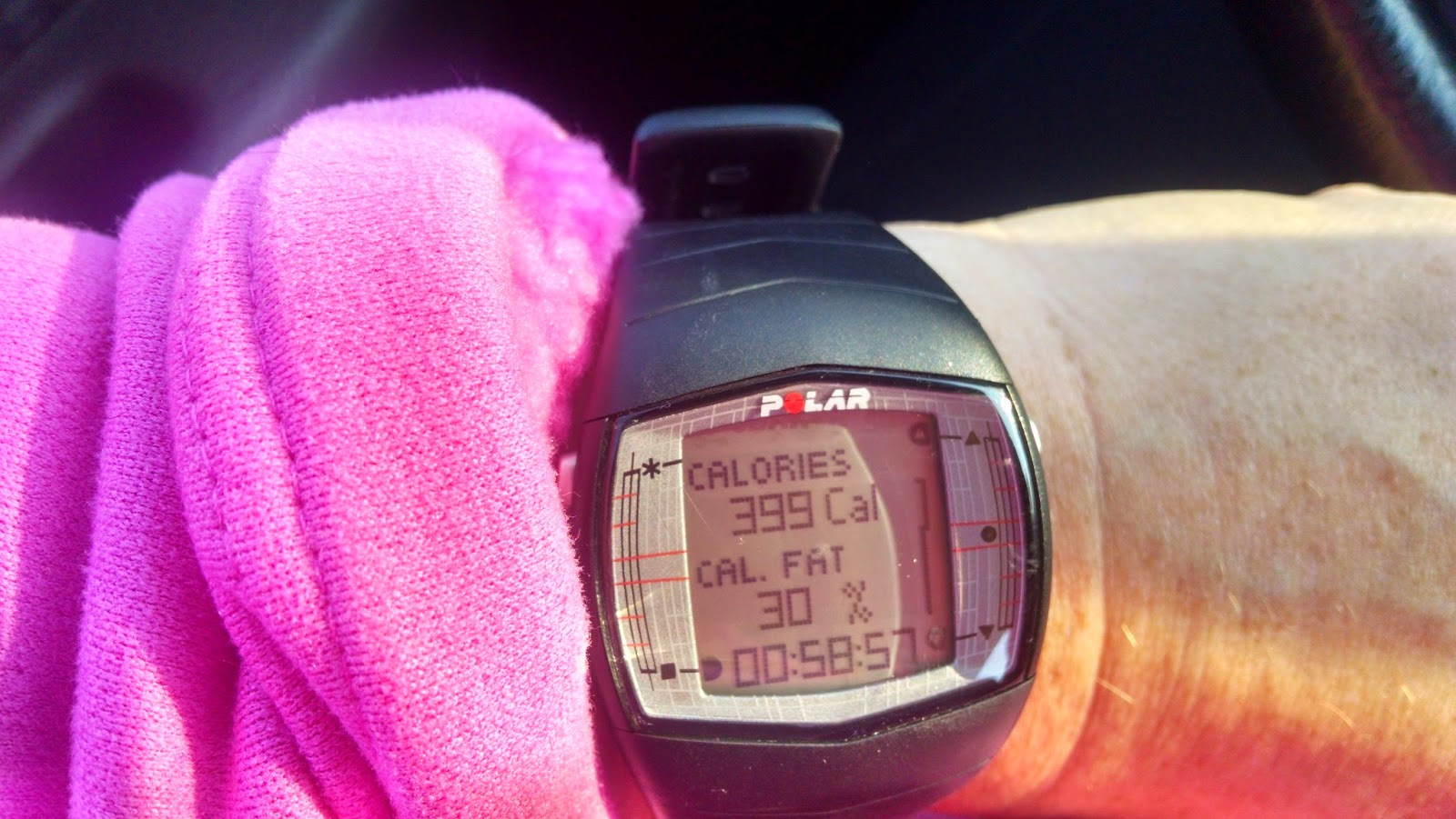 Polar HR Monitor Watch - Track Calories Burned!