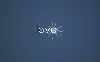 Pure Love Blue Backgroun HD Wallpaper