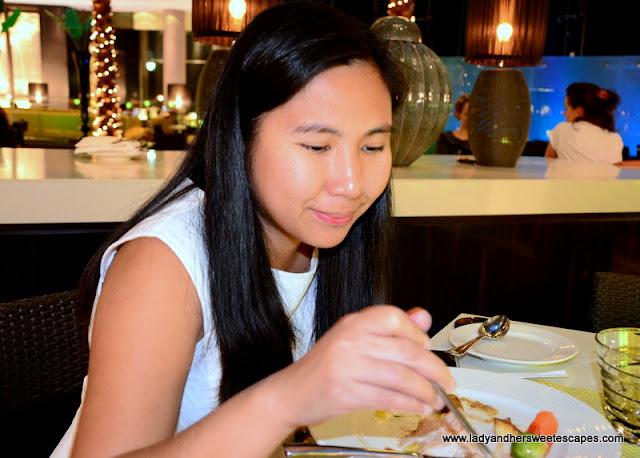 Lady at C.taste dinner buffet