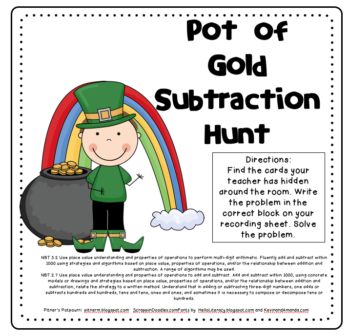 Pot of Gold Subtraction Hunt