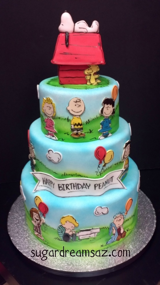 Snoopy Peanuts Birthday Cake