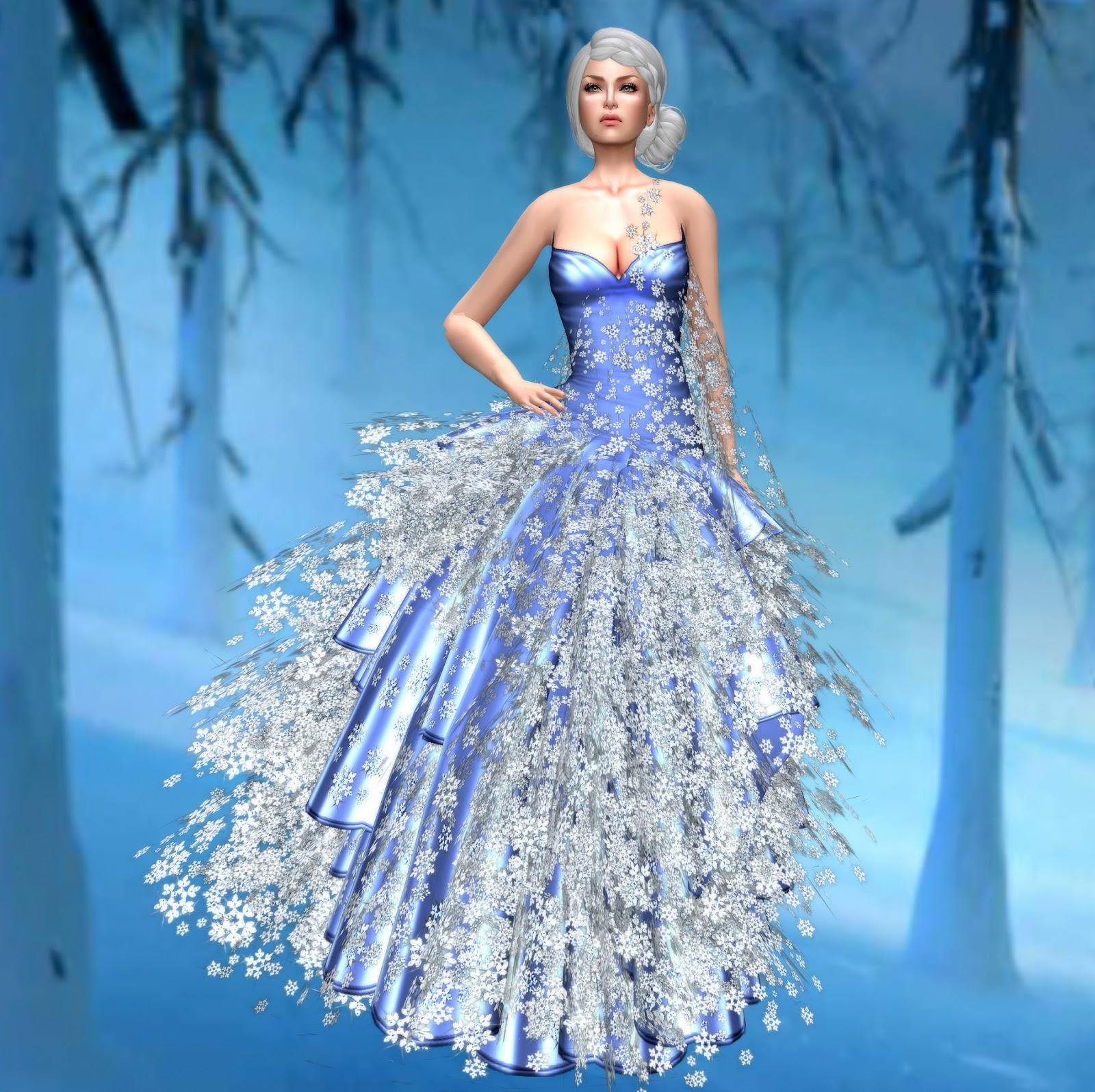 Bettinas Closet December 2013 Snow Flakes Dress Saturday 28