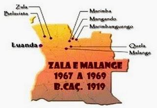 ZONAS EM QUE ESTEVE O B.CAÇ.1919