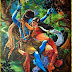 Lord Radha Krishna Beautiful Paintings Wallpapers