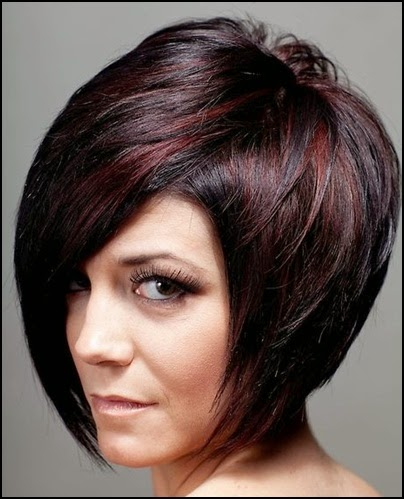 highlights on black short hair
