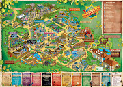 Chessington World of Adventures 2011 Theme Park Map (chessington gatemap dpi)