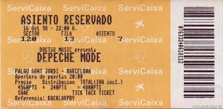 entrada de concierto de depeche mode