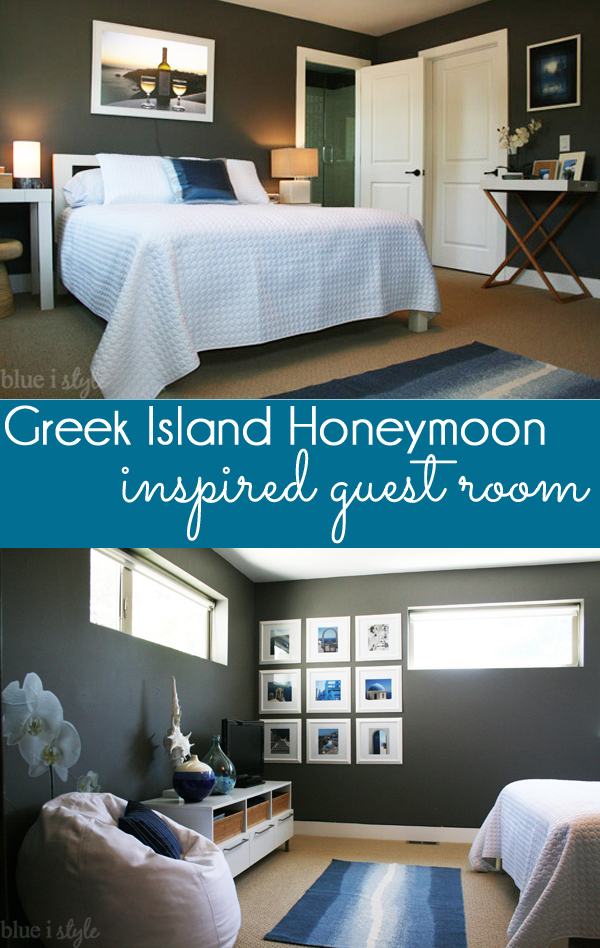 Greek Island Honeymoon Inspired Guest Room
