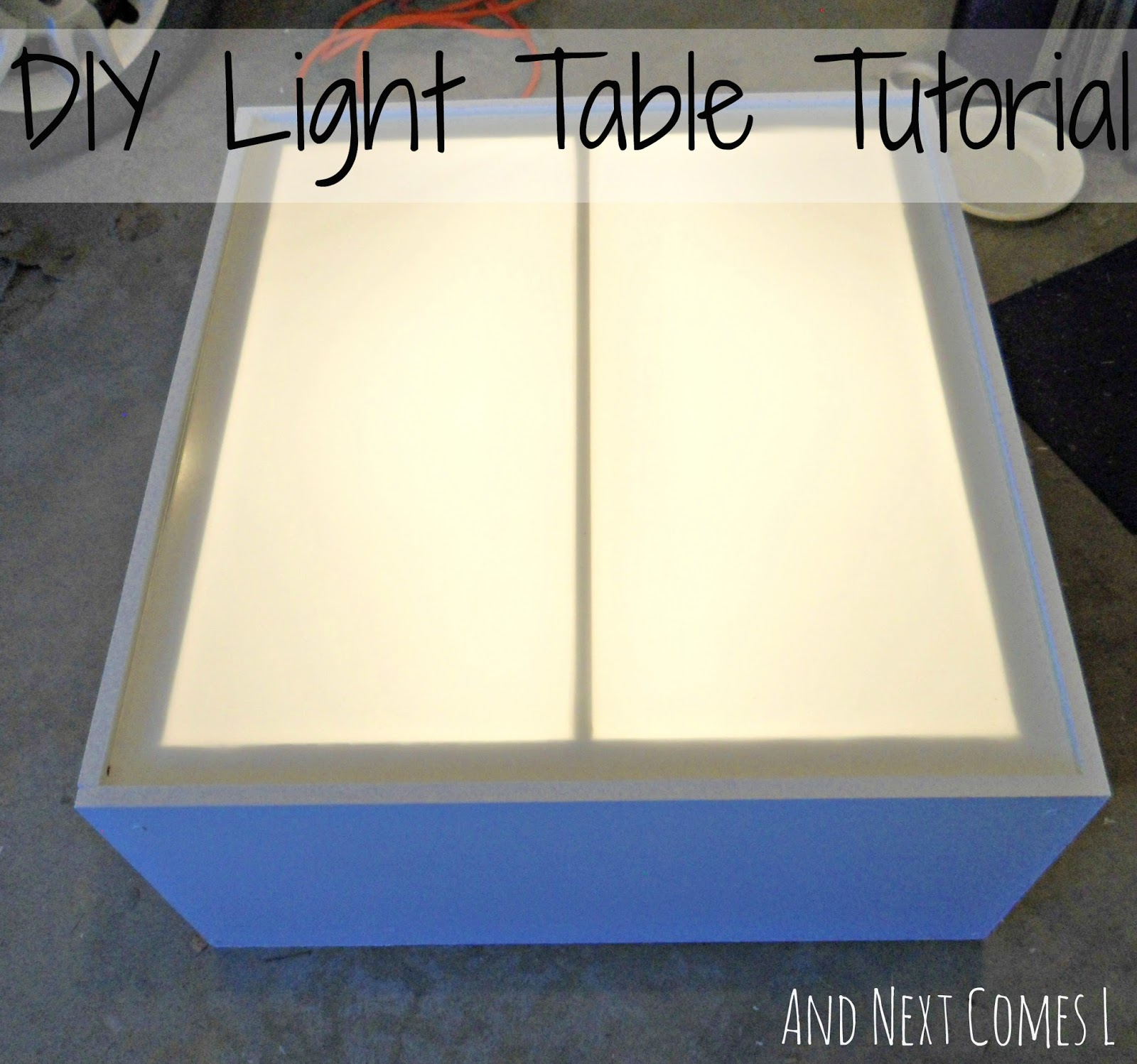 Superior DIY Light Table Tutorial (made From An Old Entertainment Center) From And  Next Comes