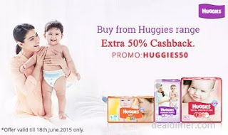Huggies Diapers 50% Cashback on Rs. 399 – PayTm | Hot Deals