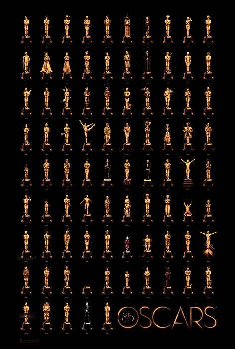 85 estatuetas do Oscar by Olly Moss