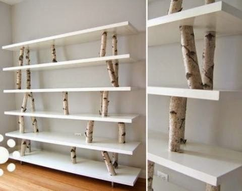 diy boekenkast boom