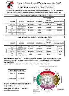 Abonos River Plate temporada 2011 a 2012 River Plate en la B Nacional