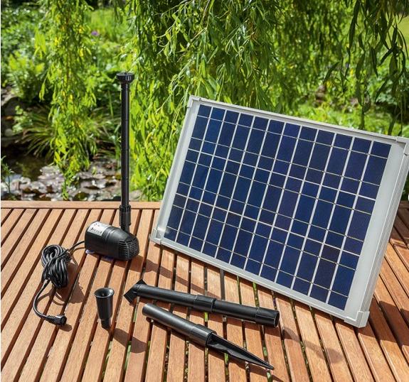 Jard n solar elegir una bomba solar de agua para mi estanque for Bombas de agua para estanques de jardin