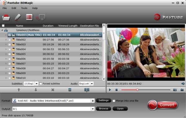 Blu-ray to AVI Converter