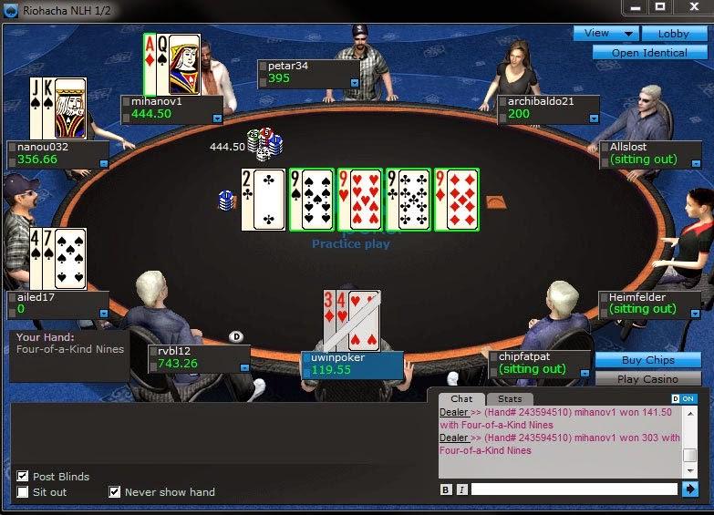 El poker tienes sus características propias cuando lo jugamos online