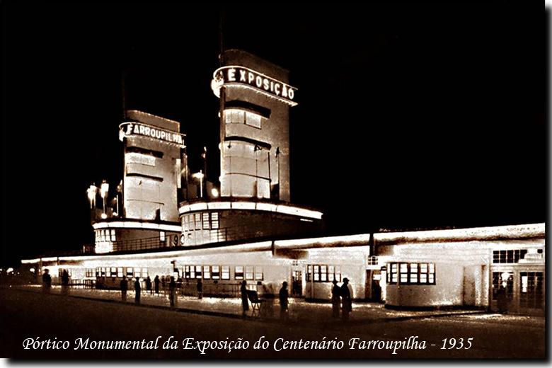 Pórtico da Exposição Farroupilha - 1935