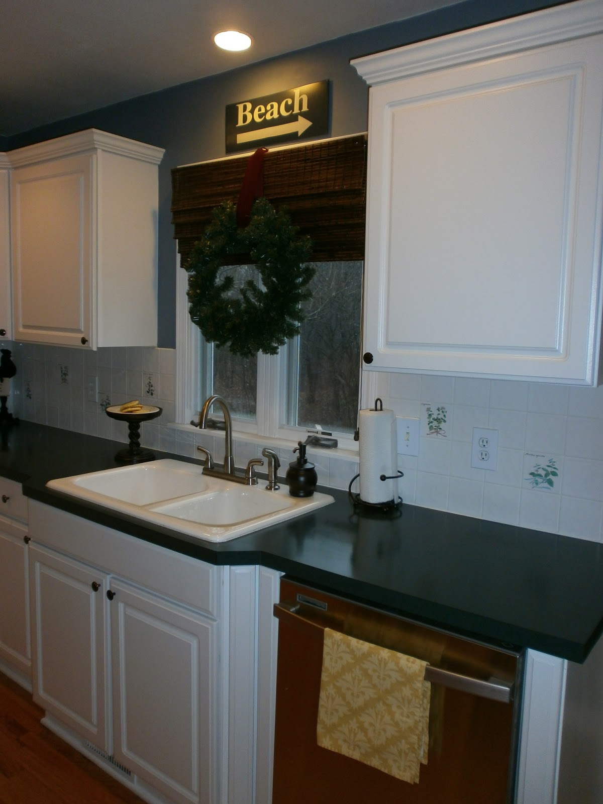Backsplash Paint Ideas diy: painting a ceramic tile backsplash