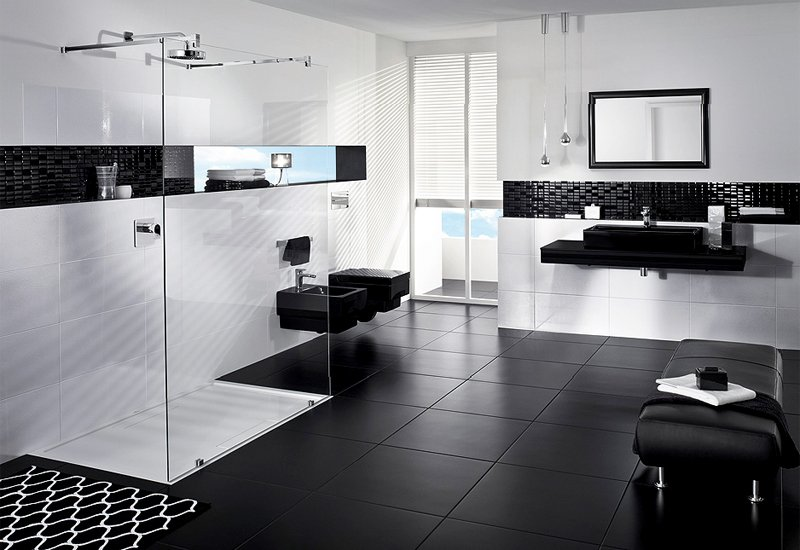 Decorar Un Baño Azul:Tips para decorar el baño en color negro