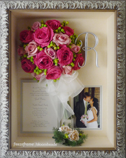 frame your wedding flowers preserved wedding bouquets. Black Bedroom Furniture Sets. Home Design Ideas