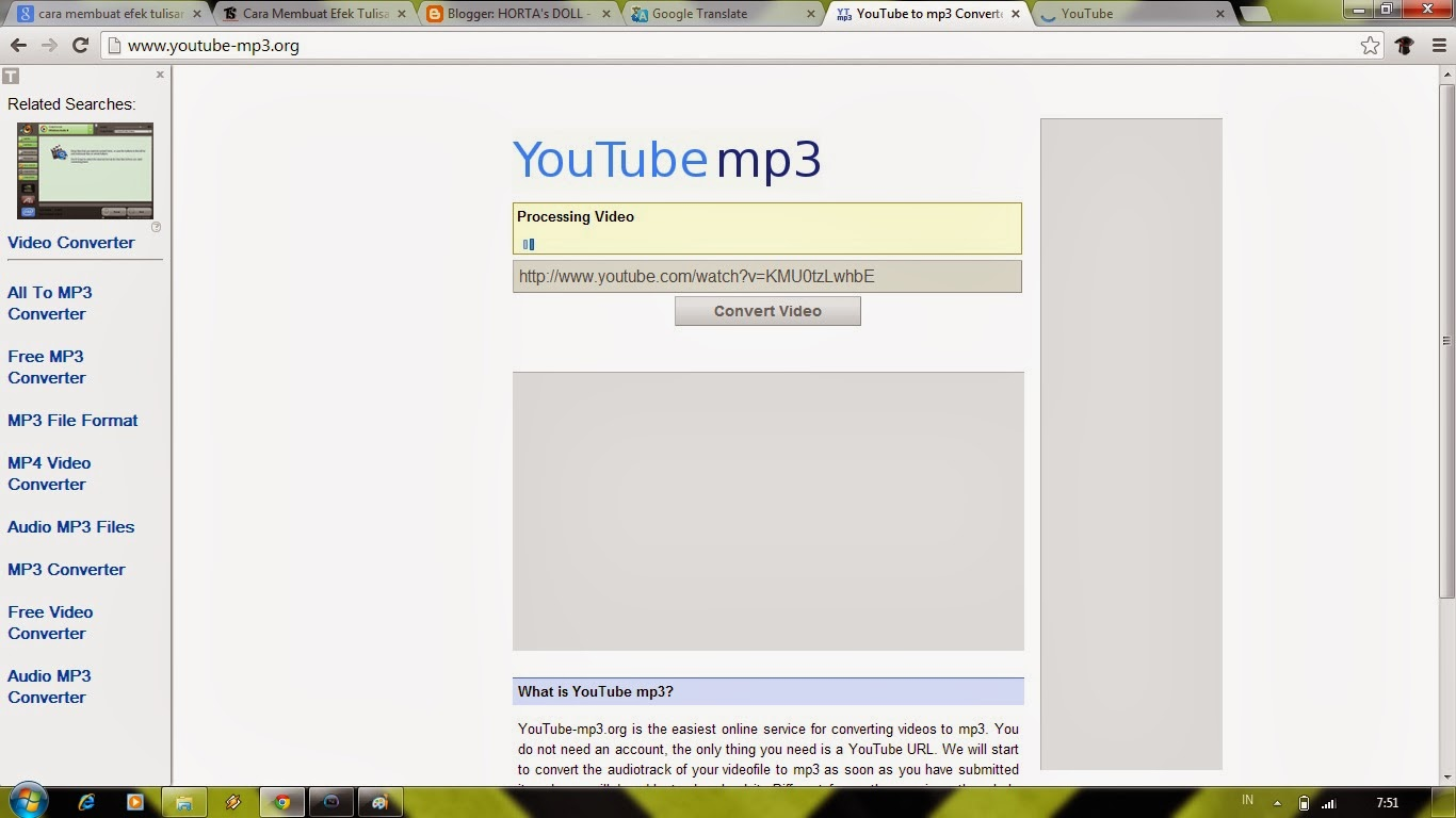 Mp3 Youtube is a free online youtube converter that can convert a youtube video to an mp3 file