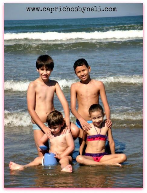 Férias, praia, filhos