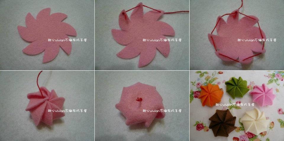 Variedades lugle manualidades con costura como realizar - Flores de telas hechas a mano ...