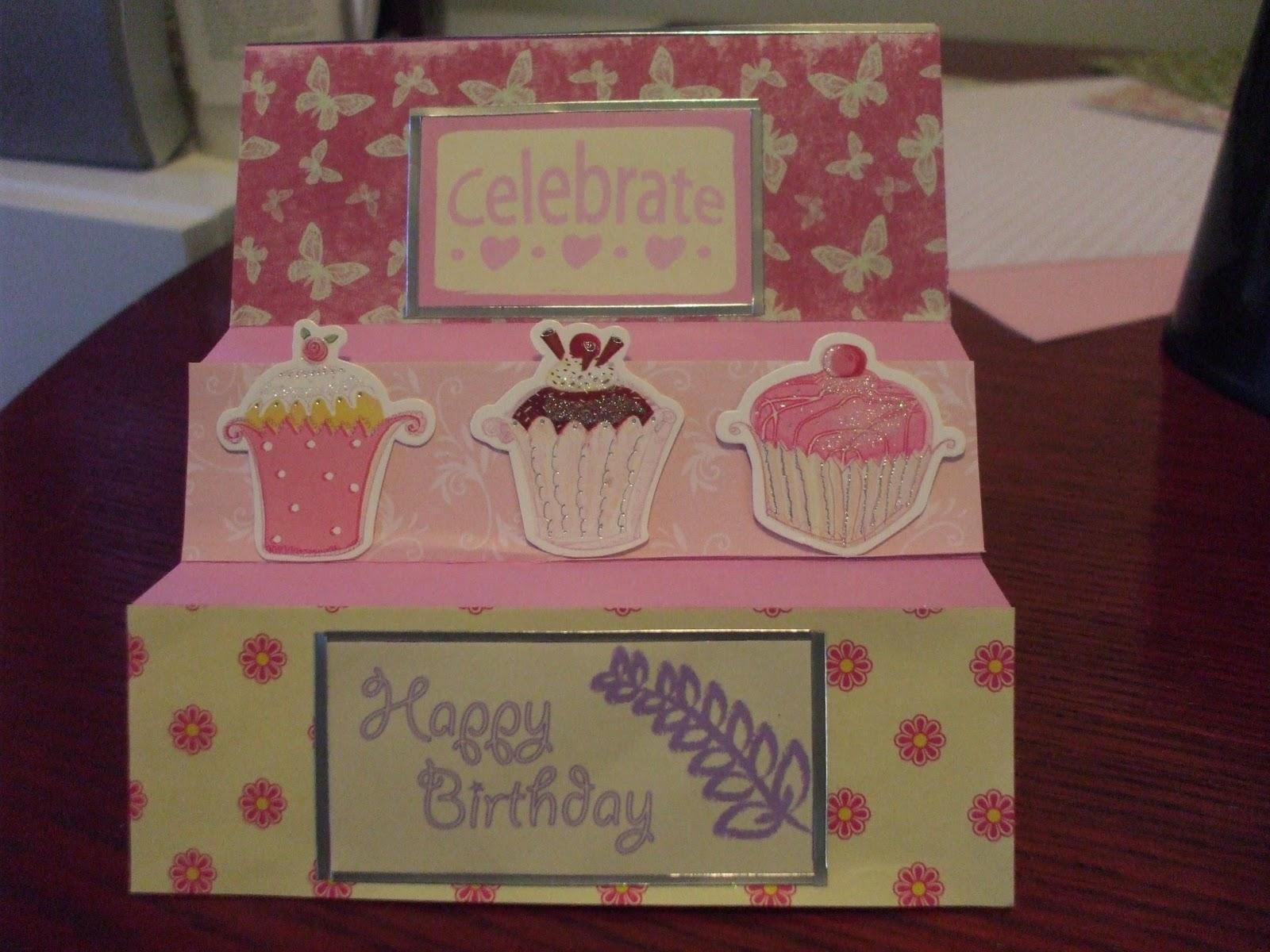 Homemade Birthday Cards For Grandma ~ The craftingpiggy a birthday card for my grandma
