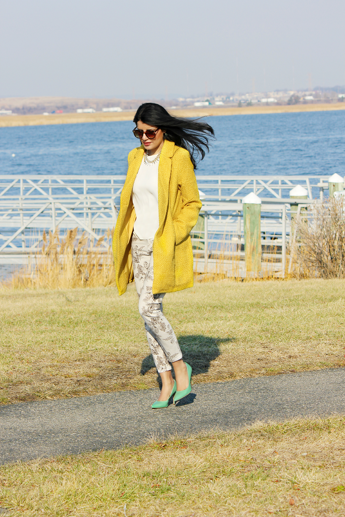 Yellow Winter Coat, Yellow Coats For Winter, Mustard Coat, Bright Yellow Coat, Canary Yellow Coat