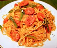 japanese pasta naporitan or napolitan spaghetti