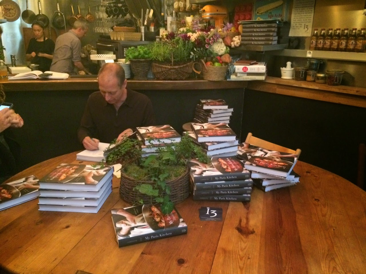 "David Lebovitz signing ""My Paris Kitchen"""