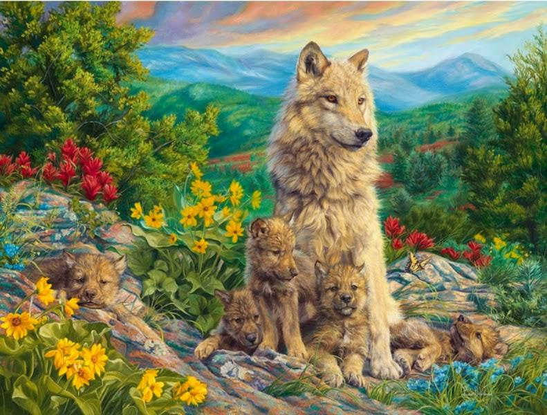 pinturas-realistas-de-lobos