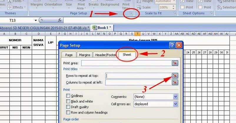 Cara Membuat Judul Tabel Header Row Di Awal Semua Halaman Microsoft Excel